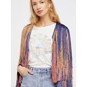 Free People Collection Tinsel Town Tassel Coat NEW